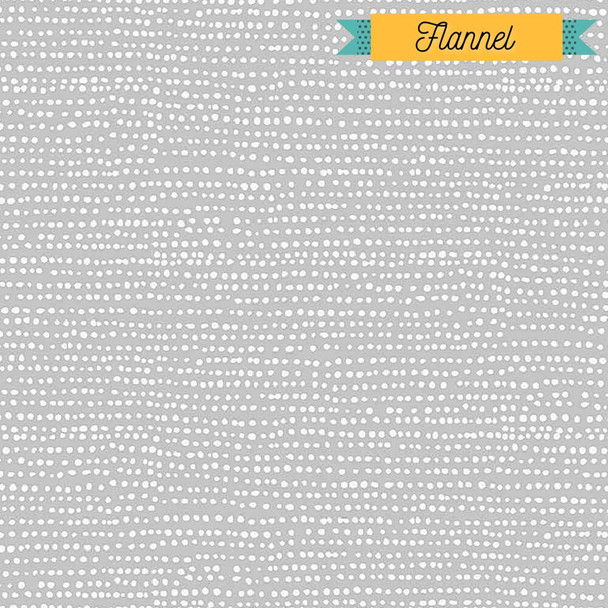 Gray with Dots Fabric-100% COTTON FLANNEL fabrics design