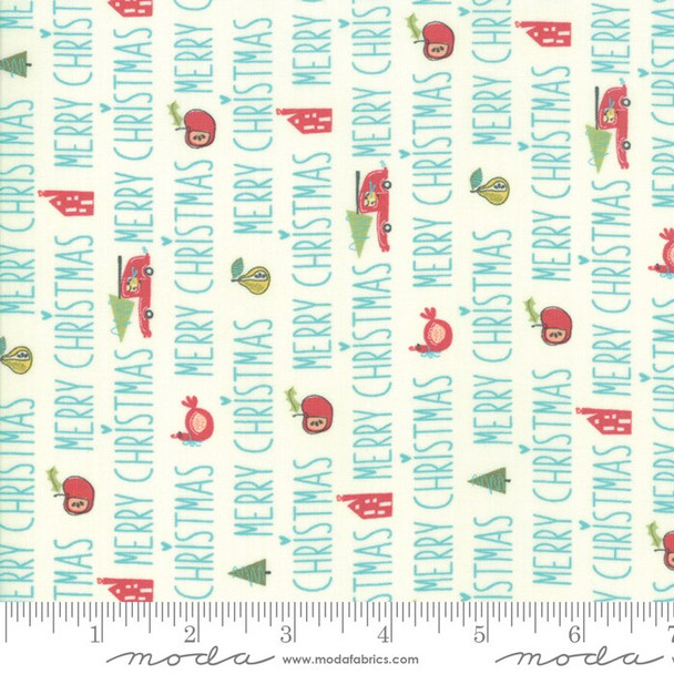 Christmas Words quilt cotton Fabrics design