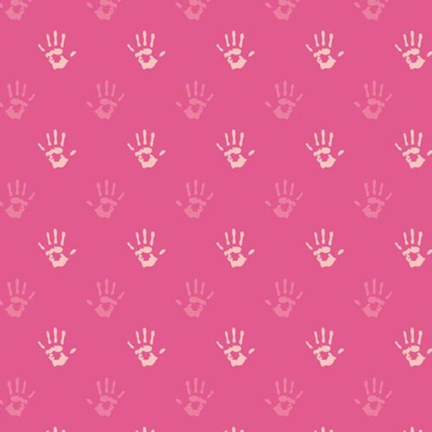 Fingerpaint Pink Hand fabrics design