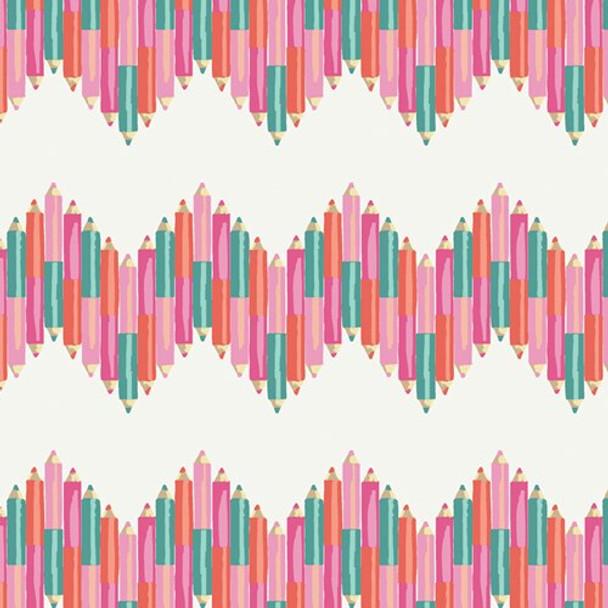 Color My World Crayon fabrics design