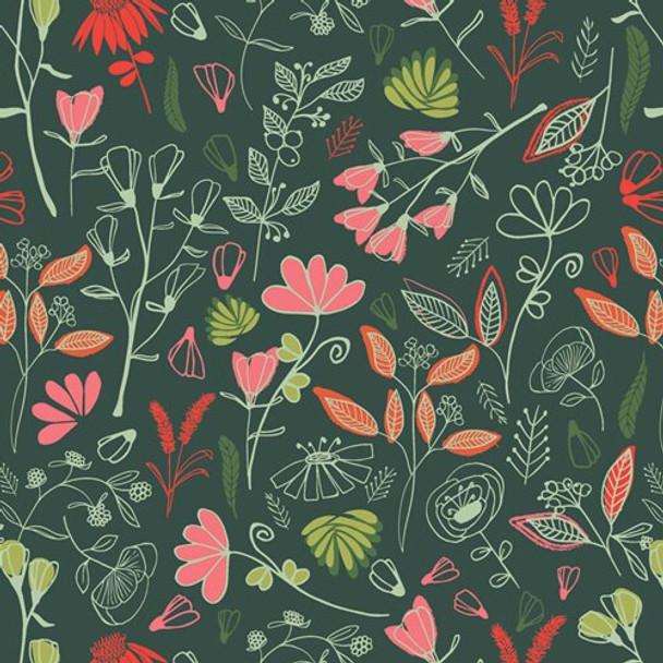 Glowy Bosque Flower Fabrics design
