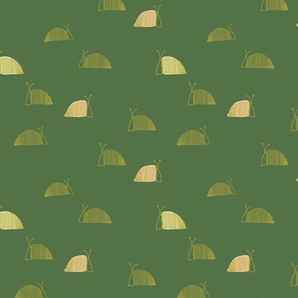 Green Moss's Snail Mail fabrics design