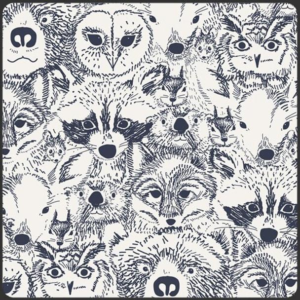 Modern woodland animals fabrics design