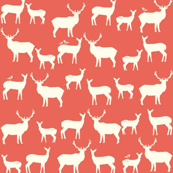 Deer Silhouette Organic cotton fabrics design