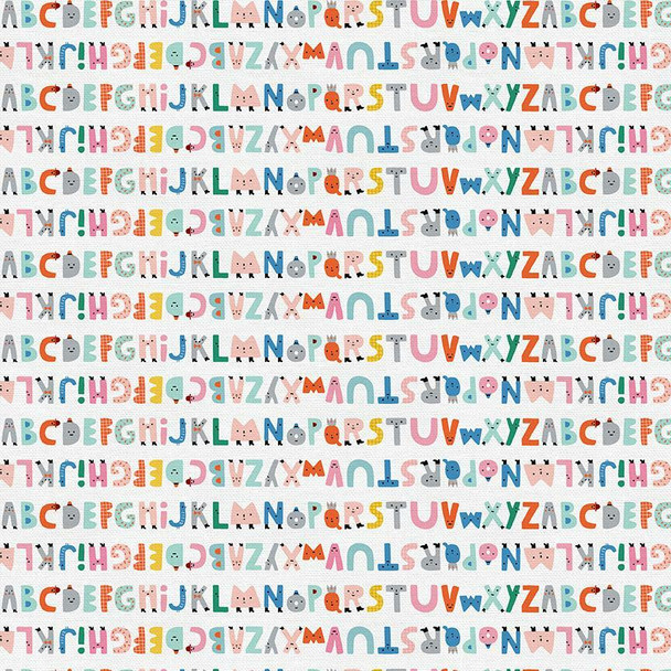 Fun kids alphabet fabrics design