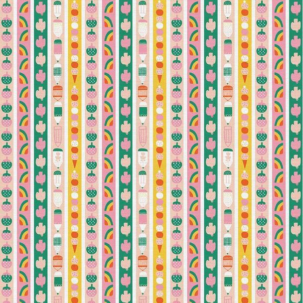 Kids fruit stripe fabrics design
