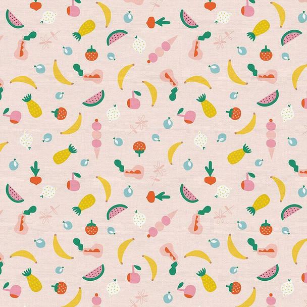Pink summer fruit quilt cotton fabrics design