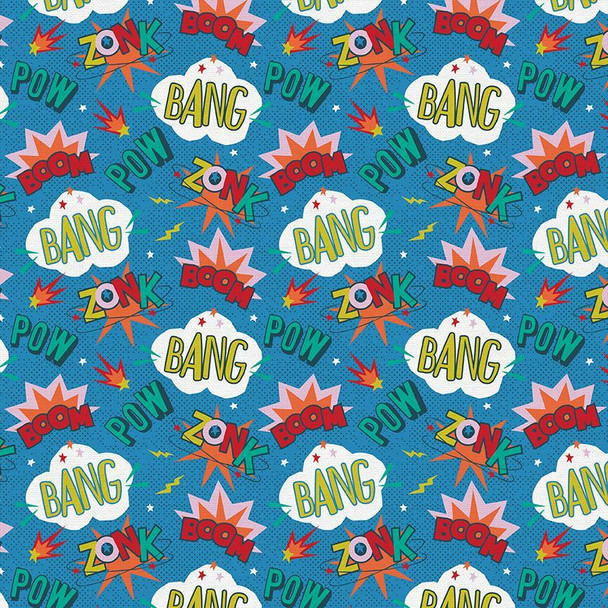 Kids superpowers Super Dinos cotton Fabrics design