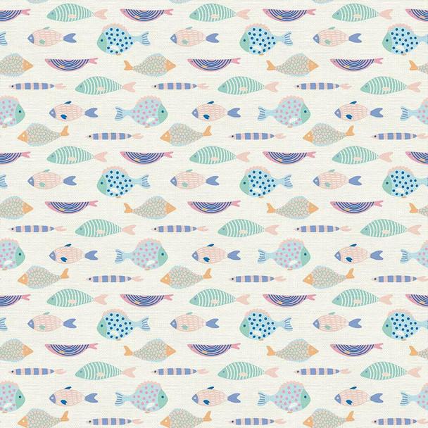 Pastel fish fabrics design