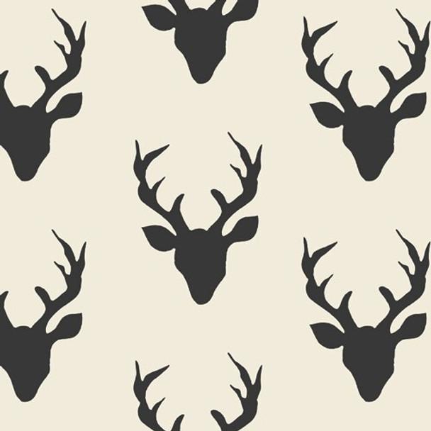 Deer Buck Forest Night in CANVAS fabrics design