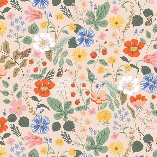 Strawberry Fields Blush cotton fabrics design