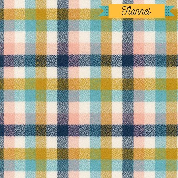 Pastel plaid FLANNEL Fabrics design