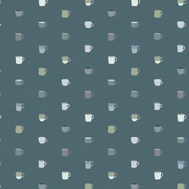 Coffee Mugs Drink It Up cotton Snow Day fabrics design