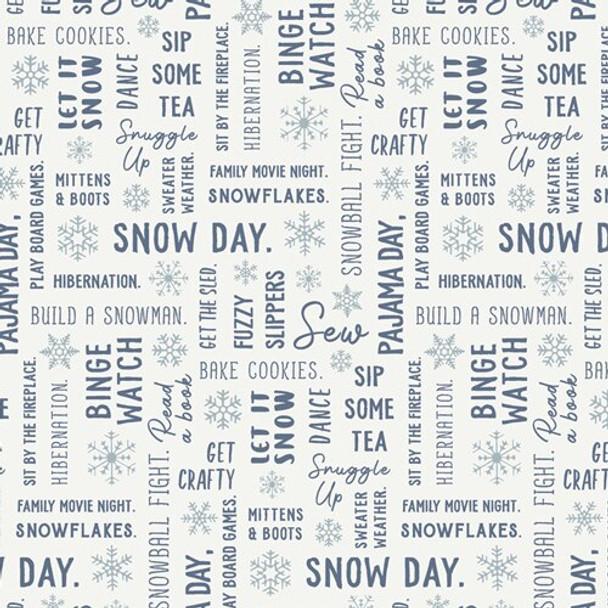 Snowbound Winter Fun fabrics design