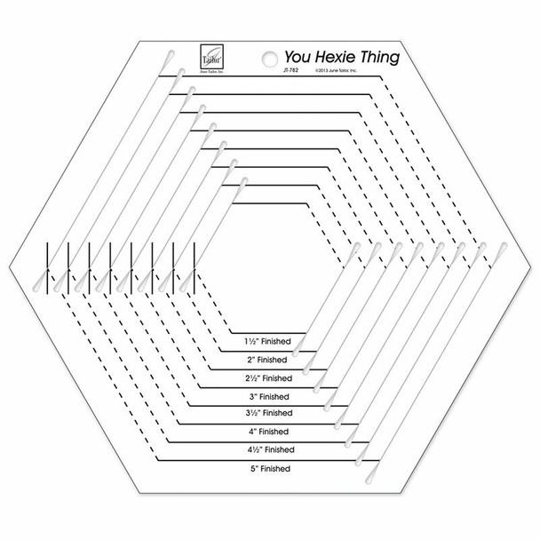 Hexagon template quilt ruler