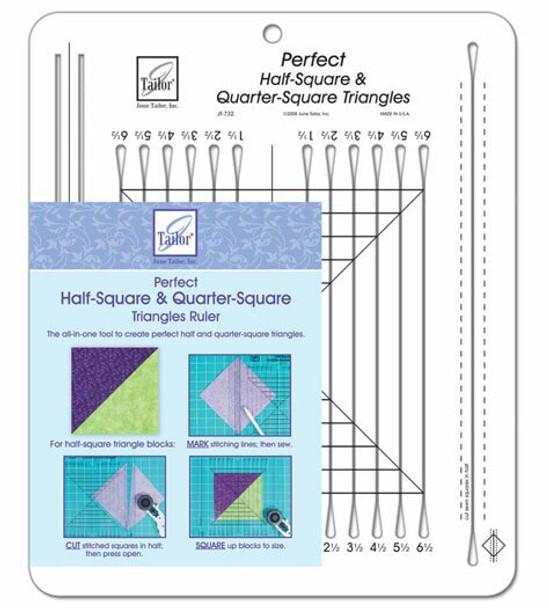 Half Square Triangle template ruler