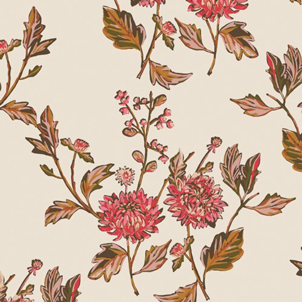 Cut Flowers Fortune floral fabrics design