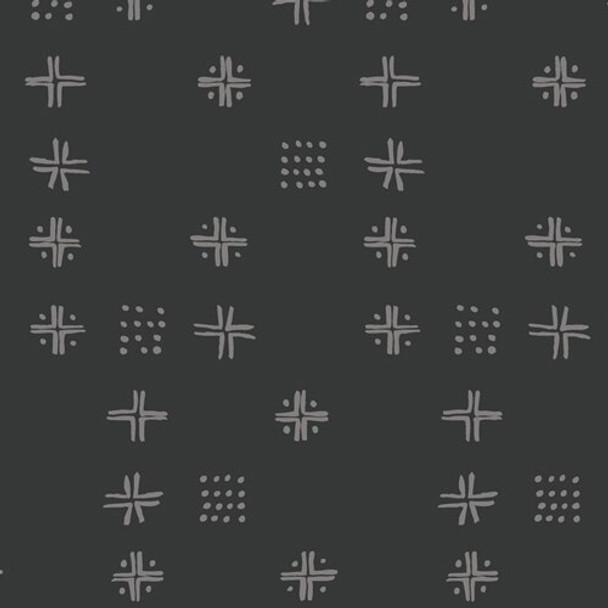 Black low volume fabrics design