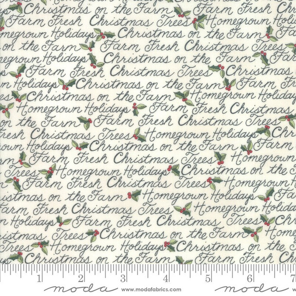 White Farm Fresh Christmas Fabrics design