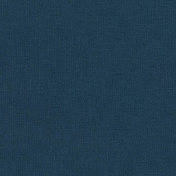 Midnight Dark Blue Essex Linen fabric, Robert Kaufman Essex Linen, QTR YD