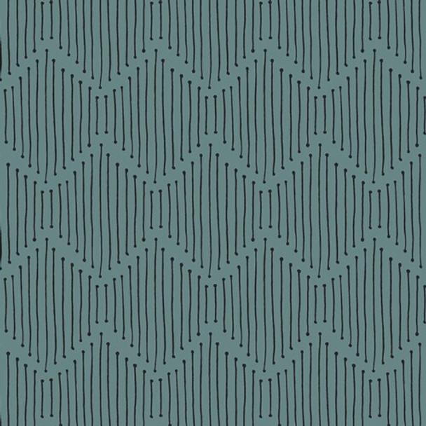 Turquoise Black Low Volume fabrics design