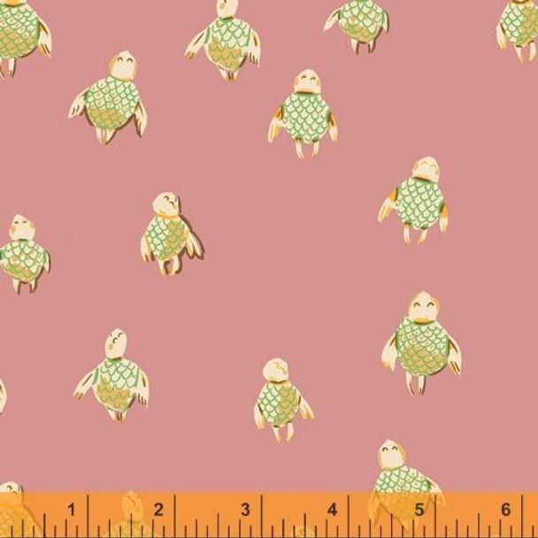 Rose sea turtles fabrics design
