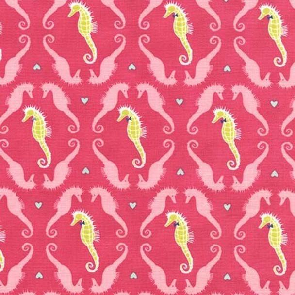 Pink Seahorse Beach Fabrics design