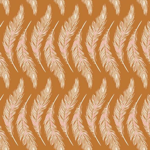 Gold feather Homebody cotton fabrics design
