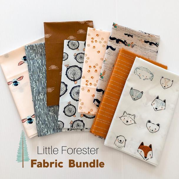 Little Forester 8-piece Fabric Bundle quilt cotton fabrics design