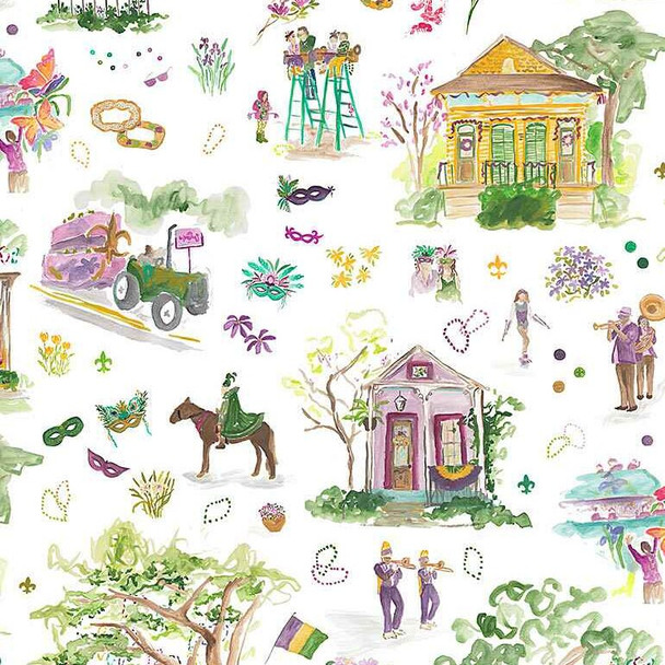 Mardi Gras Parade cotton fabrics design