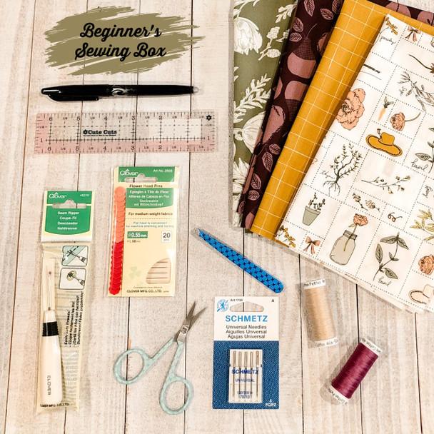 Beginner's Sewing Box kit - Art Gallery Fabrics notions supplies box kit
