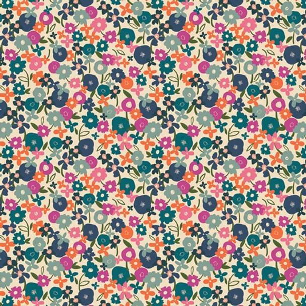 Posy Morning Light floral fabrics design