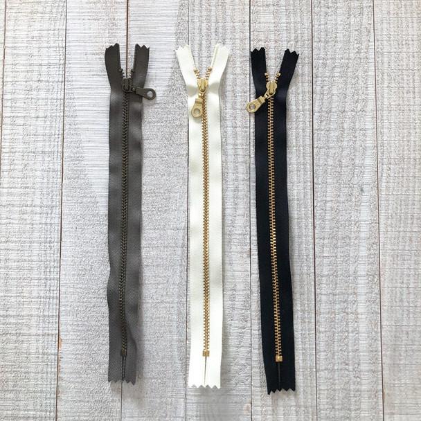 Metal Teeth Zipper 9 inch
