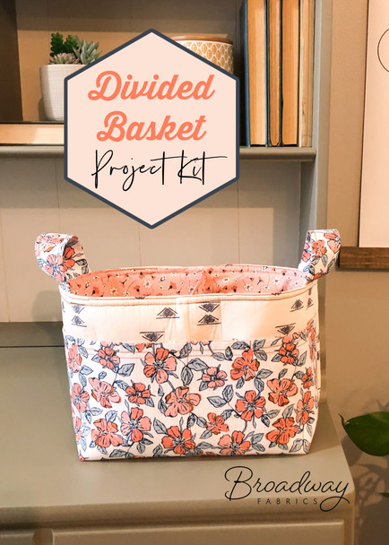Divided Basket Project Box Kit - AGF fabric notions supplies box kit