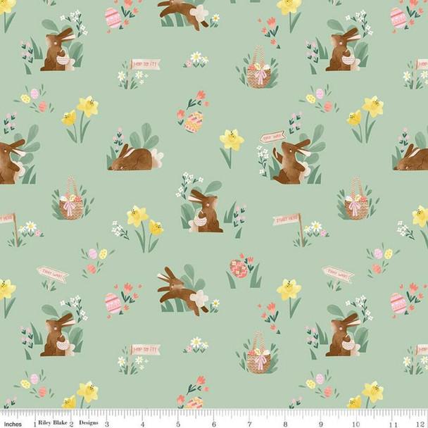 Easter fabric mint cotton fabrics design