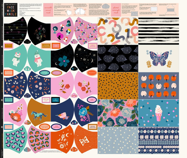 Modern Face Mask Panel Fabrics design