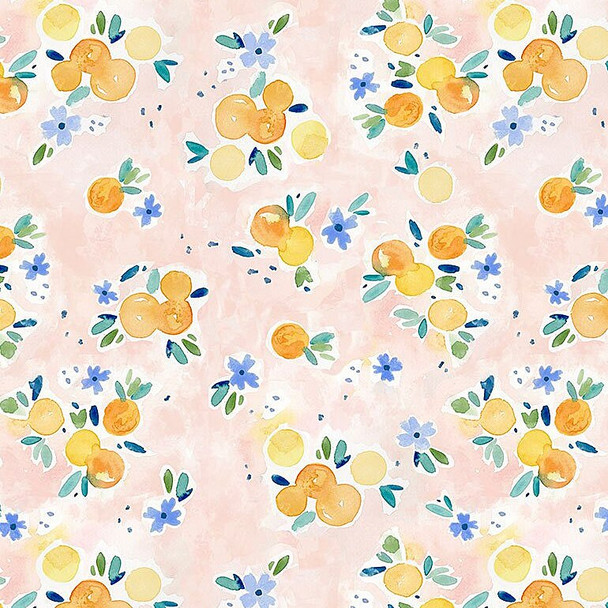 Oranges fruit cotton fabrics design