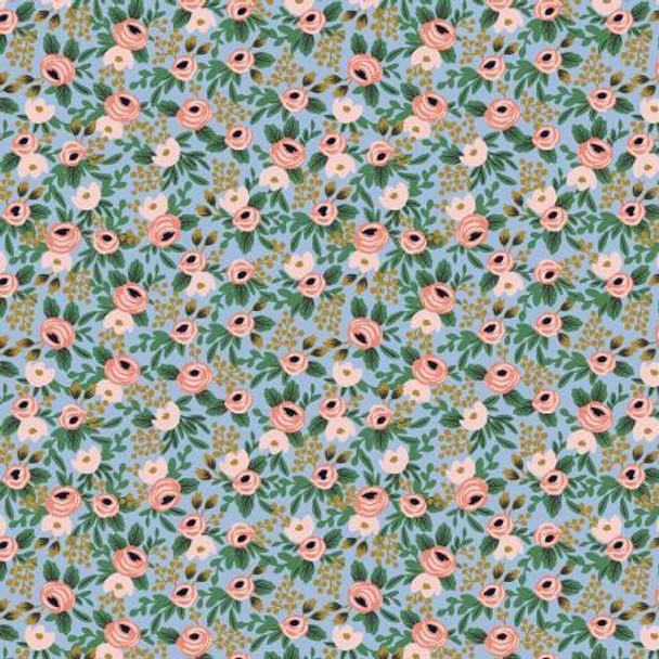 Rosa Chambray Metallic cotton fabrics design