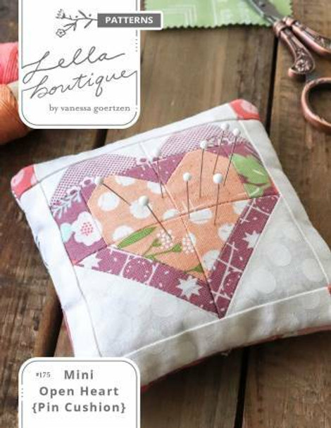 Mini Open Heart Block Pin Cushion Sewing Pattern
