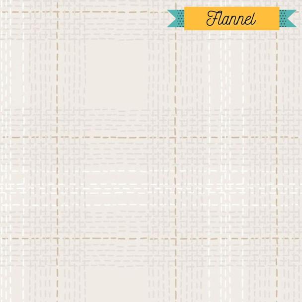 Tan Dash Plaid Flannel fabrics design