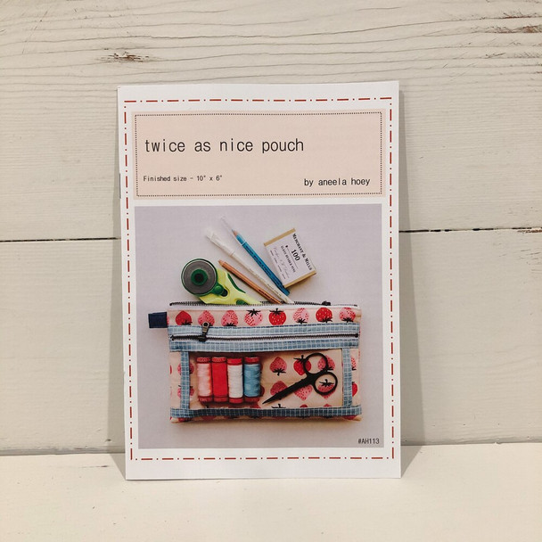 Twice as Nice Pouch pattern by Aneela Hoey