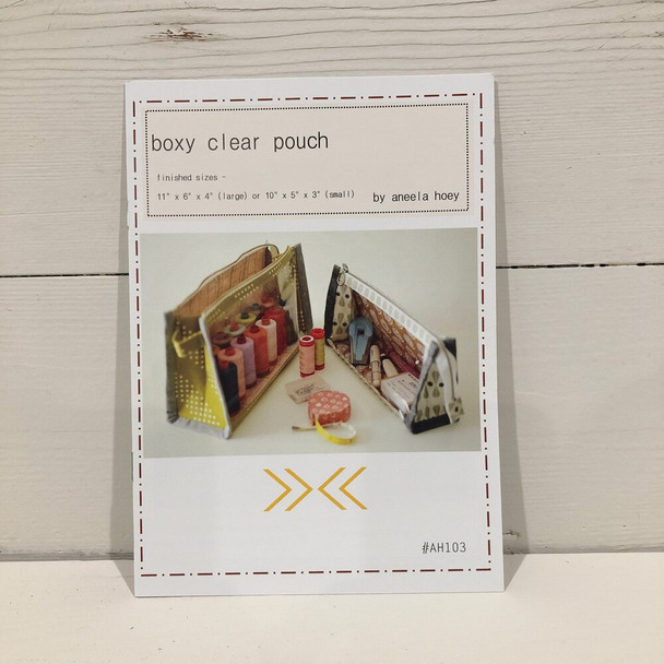 Boxy Clear Pouch pattern by Aneela Hoey