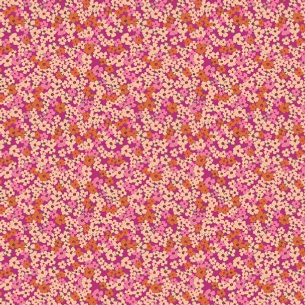 Pink Orange cotton fabrics design