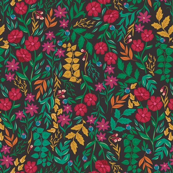 Colorful Lush Floral fabrics design