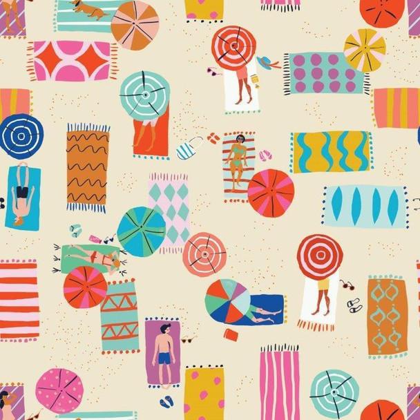 Sandy Beaches summer beach fabric