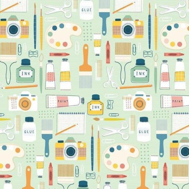 Modern Crafter sewing fabric, Dashwood Studio cotton QTR YD