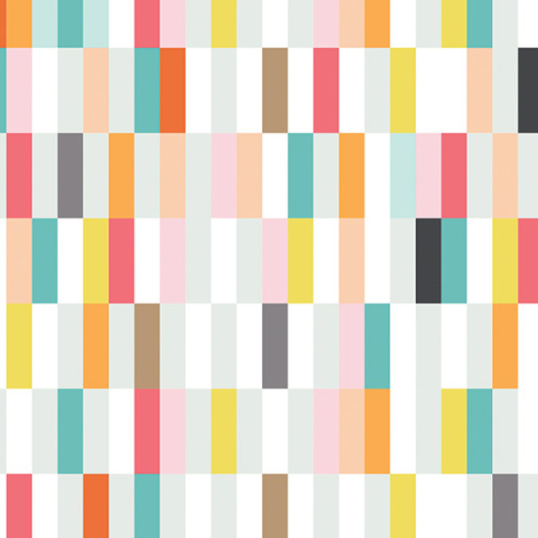 Bright colored stripe fabric- Art Gallery Ice Cream Shop cotton fabric, QTR YD