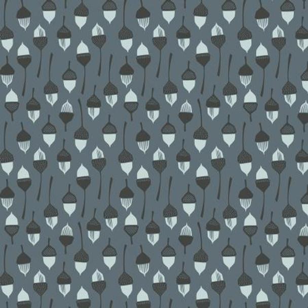 Dark acorn fabric In the Woods modern cotton