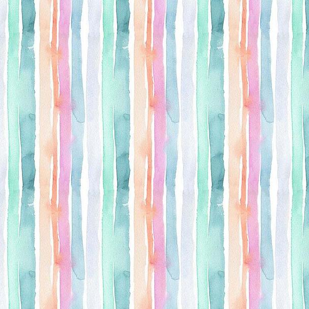 Watercolor Summer Stripe fabric Dear Stella quilt cotton