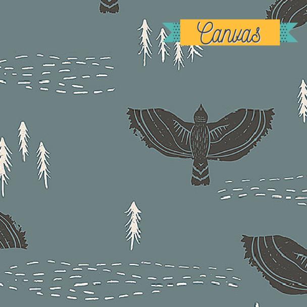 Wind Observer Slate CANVAS fabric Art Gallery Lambkin